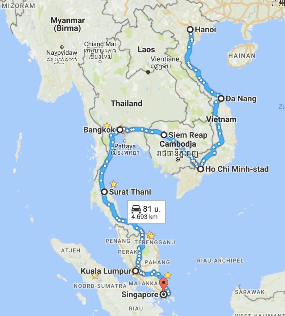 Route Azië
