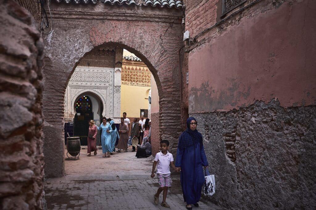 De medina zit vol met kleine steegjes - Marokko - De Reizigers - Marrakech -8