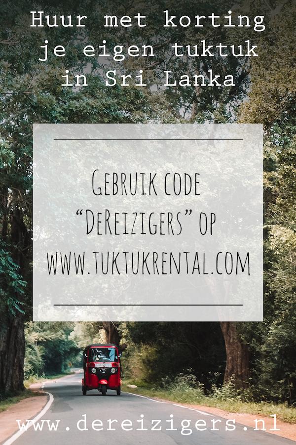 """Huur met korting je eigen tuktuk op tuktukrental.com. Gebruik code """"DeReizigers"""""""