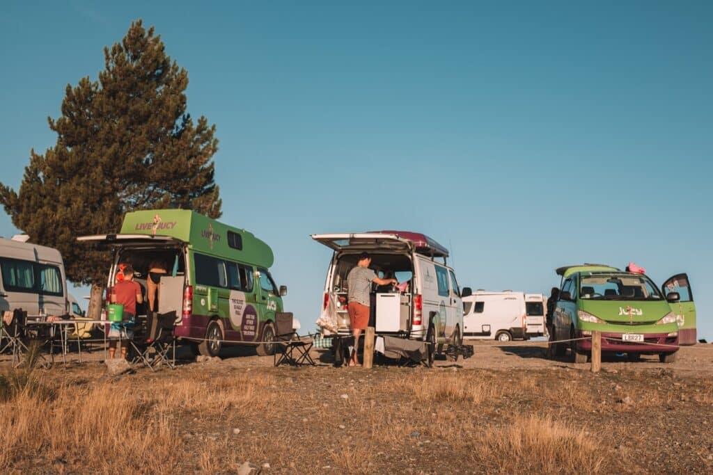 De Reizigers wildkamperen in Nieuw-Zeeland