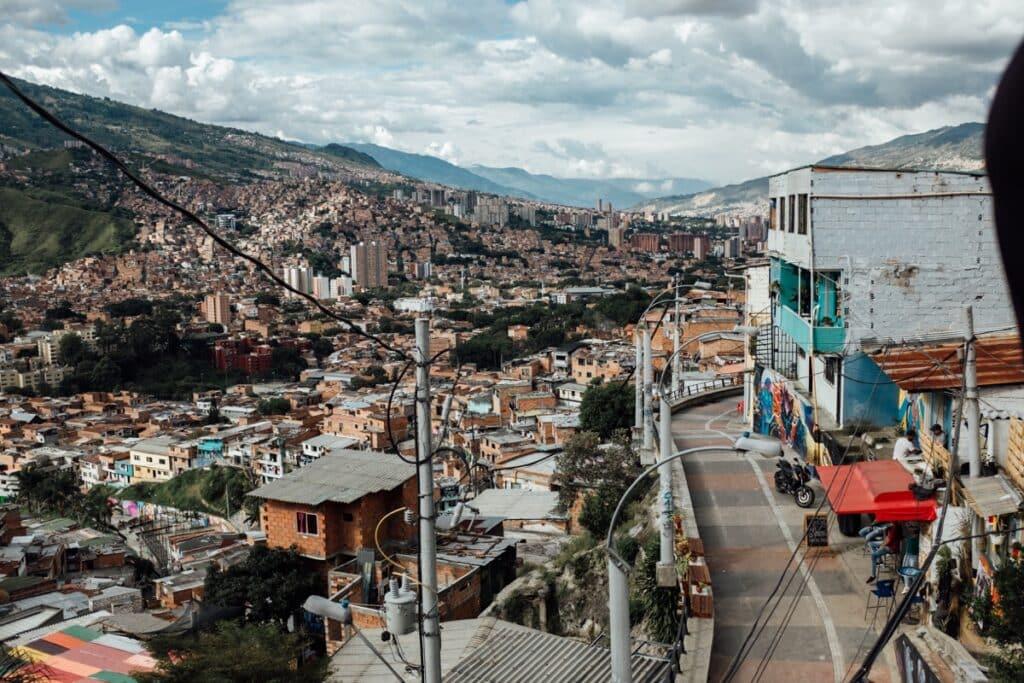 Comuna 13 van boven gezien