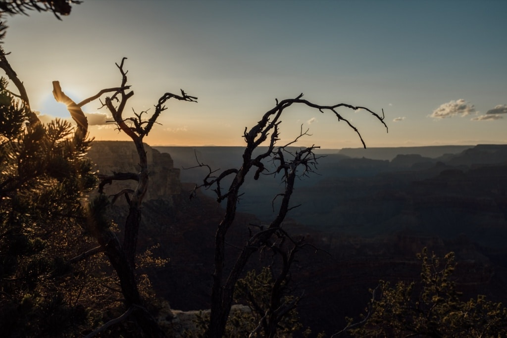 Zonsondergang over Grand Canyon