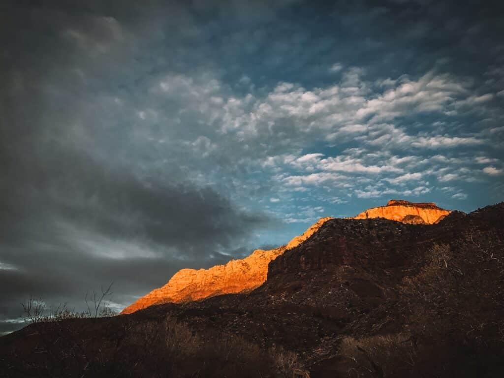Zonsopkomst Zion National Park