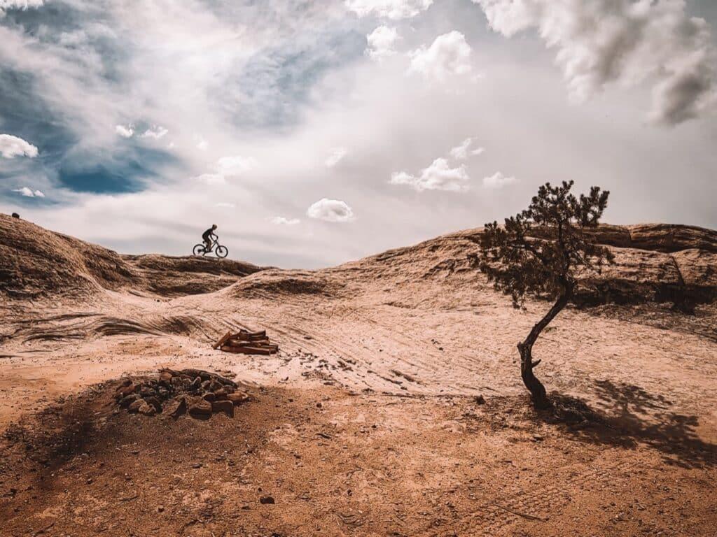Biken in Gooseberry Mesa