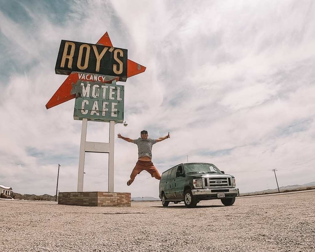 Roy's Motel langs Route 66!