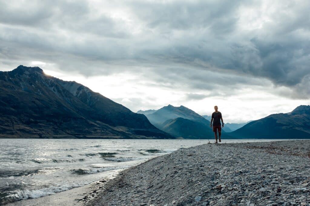 Privé kampeerspot aan het meer in Nieuw-Zeeland