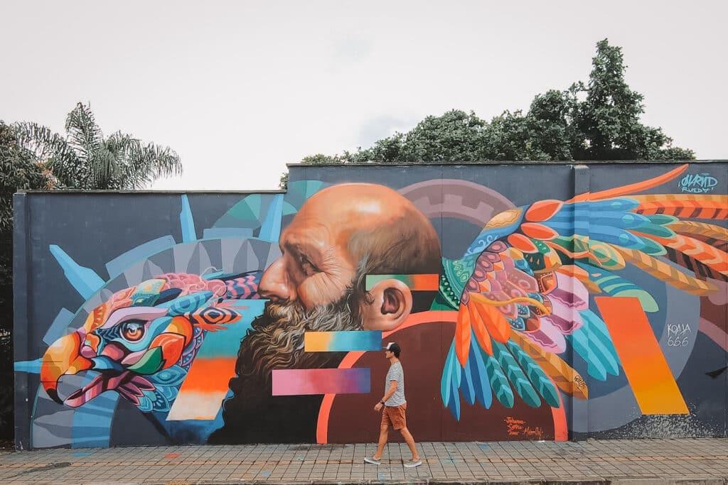 Street art Medellin Colombia
