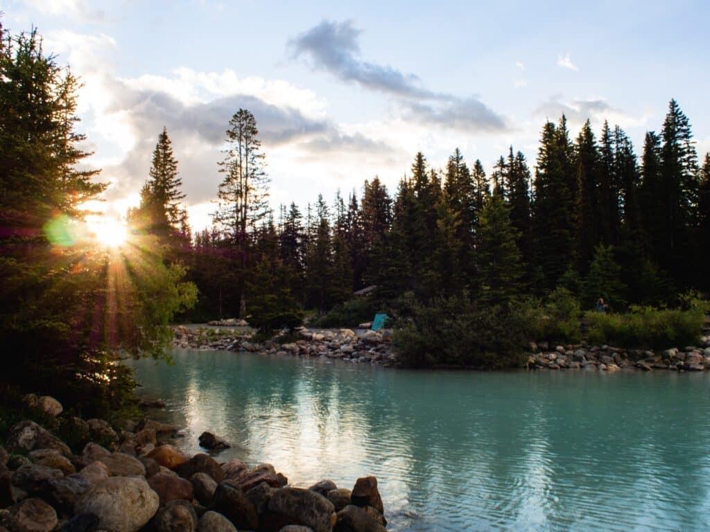 Zonsopkomst Lake Louise