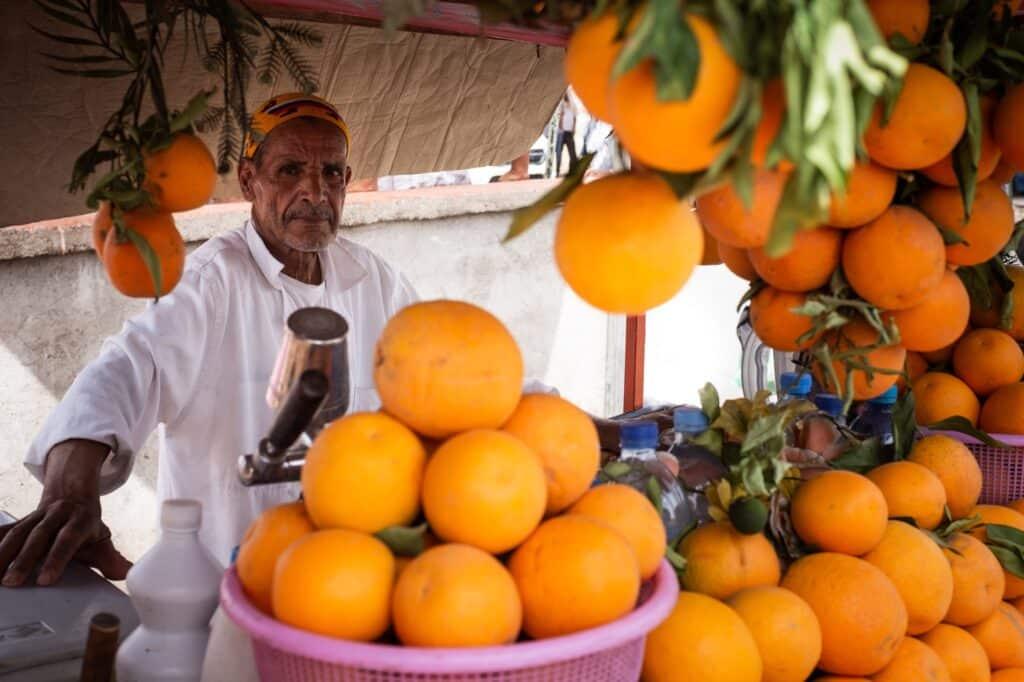 Marokko sinaasappelsapverkoper