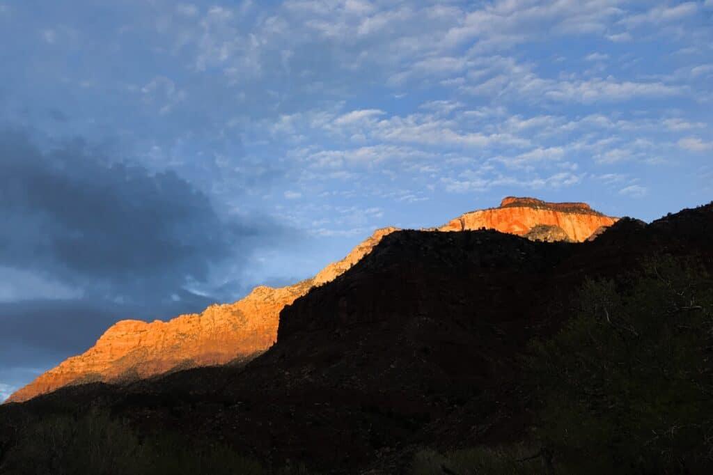 De Reizigers Zion National Park sunset
