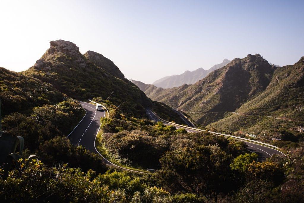 De wegen op Tenerife