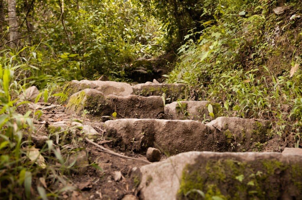 De Reizigers Machu Picchu trappen