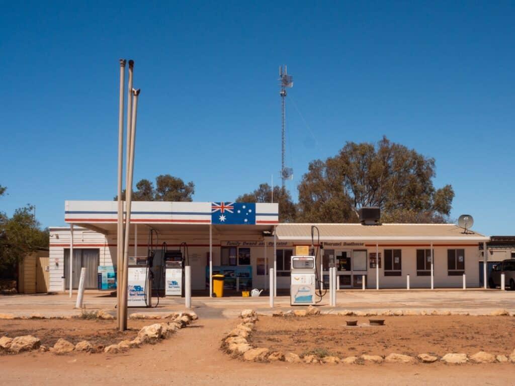 West-Australië benzinepomp