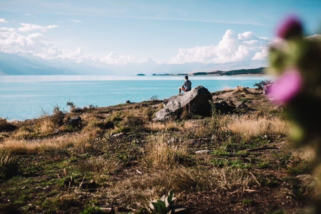Heerlijke blauwe meren in Nieuw-Zeeland