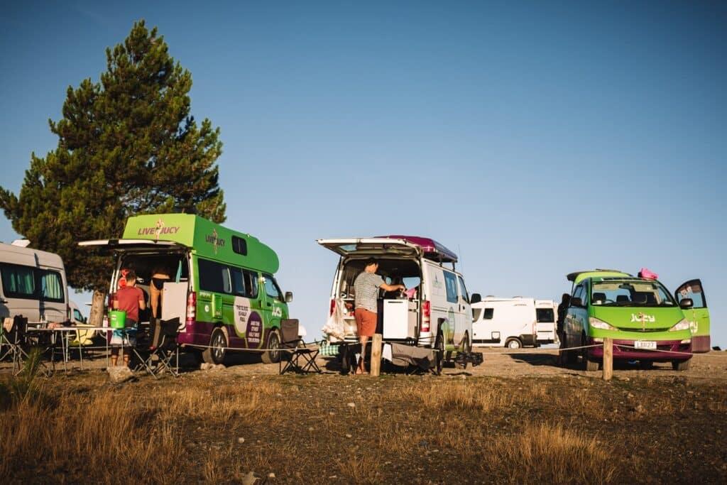 Gratis kamperen in Nieuw-Zeeland