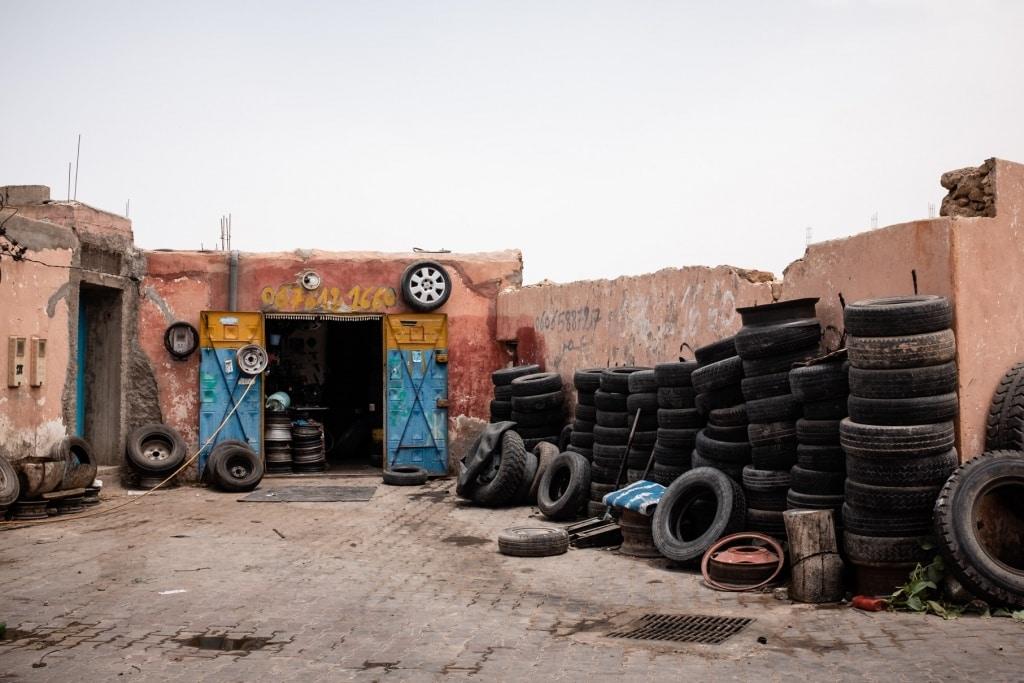 De Reizigers garage Marokko