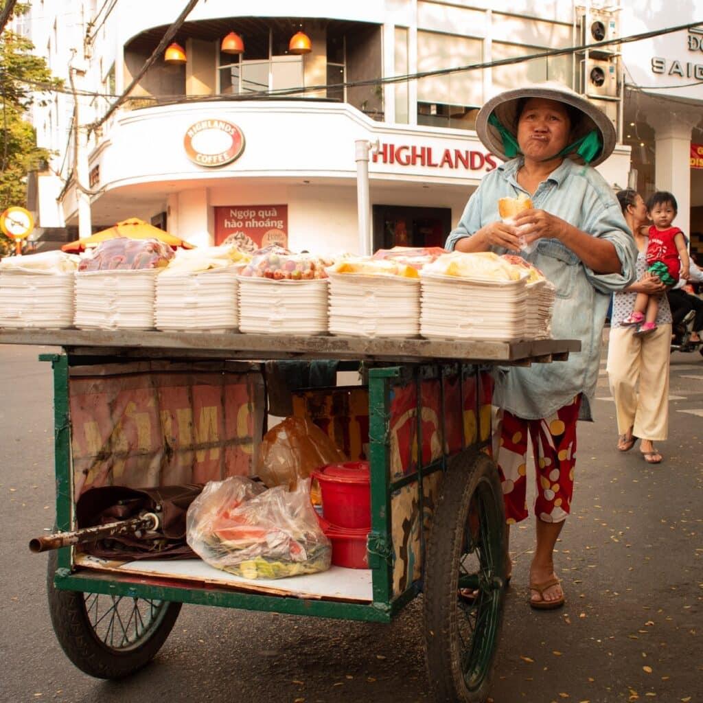 Street food cart in Vietnam